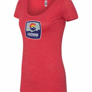 Women's Red Scoop Neck CBDepot Shirt